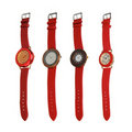 Four red different style watches Stock Photo