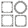 Four retro filigree frames Stock Image
