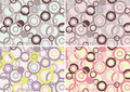 Four rings pattern Royalty Free Stock Photo