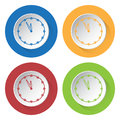 Four round color icons, last minute clock Royalty Free Stock Photo