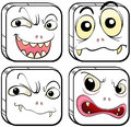 Four scary monsters illustration of the on a white background Royalty Free Stock Photos