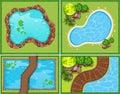 Quattro di piscina e stagno