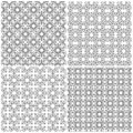 Four seamless abstract mesh patterns Royalty Free Stock Photo