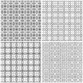 Four seamless grids Royalty Free Stock Photo