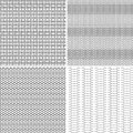 Four seamless pattern different in one file collected black and white illustration Stock Photos