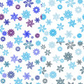 Four seamless patterns blue flowers against white background patterns can be used as wallpaper web page background textile design Royalty Free Stock Images