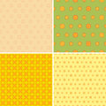 Four seamless wallpaper pattern different in one file collected colorful vector illustration Royalty Free Stock Photo