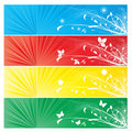 Four season banner background Royalty Free Stock Photos