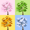 Four season trees. Stock Photography