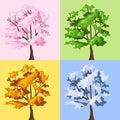 Four season trees. Stock Photography