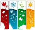 Four season vector Stock Photo