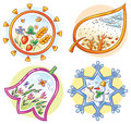 The Four Seasons In Cartoon Ha...