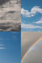 Four seasons skies - spring, summer, autumn aka fa Royalty Free Stock Images
