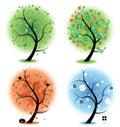 Four seasons - spring, summer, autumn, winter Art