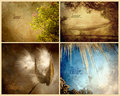 Four seasons textured collage. Stock Photos