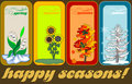 Four seasons vector illustration Stock Photos