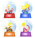 Four Seasons Water Globes Royalty Free Stock Photo