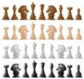 Four set of chess pieces Royalty Free Stock Photo