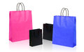 Four shopping bags on white Royalty Free Stock Photos