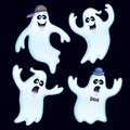 Four Silly Ghosts Royalty Free Stock Photo