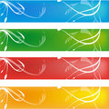 Four simple banner Royalty Free Stock Photography