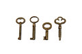Four Skeleton Keys Royalty Free Stock Photo
