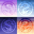 Four sky dragons Royalty Free Stock Image