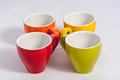 Four small cups Royalty Free Stock Photo