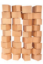 Four stacked  cardboard boxes Stock Photos
