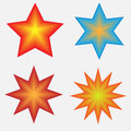 Four stars vector created in illustrator Royalty Free Stock Photo