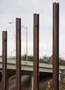 Four Steel Beams Stock Images