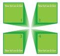 Four steps diagram Stock Photo