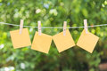 The four of sticky note Royalty Free Stock Photo