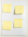 Four Sticky notes Royalty Free Stock Photo