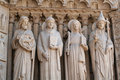 Four stone statues Royalty Free Stock Photo