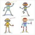 Four style robots
