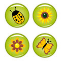 Four summer buttons for your design Royalty Free Stock Photography