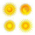 Four Suns Collection Royalty Free Stock Image