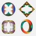 Four Symbols Royalty Free Stock Image
