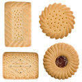 Four tea time biscuits Stock Images