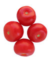 Four tomatoes Royalty Free Stock Photo