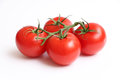 Four Tomatoes on a Vine 2 Royalty Free Stock Photo
