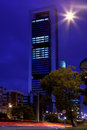 Four towers business area in madrid at night spain september on september spain they are the highest and most Stock Images