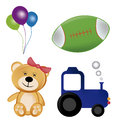 Four toys with a lot of colors and different kind for kids Royalty Free Stock Photo