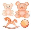 Four toys set Royalty Free Stock Photo