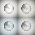 Four transparent moons vector illustration of Stock Image