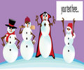 Four types of snowman Royalty Free Stock Photos