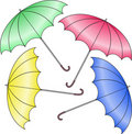 Four umbrella Stock Photo