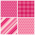 Four Valentine Patterns Royalty Free Stock Image