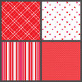 Four Valentine Patterns Stock Photo